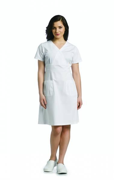 Bilde av V-hals kjole med justerbar
